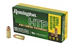 Remington, High Terminal Performance, 9MM +P, 115Gr, Jacketed Hollow Point, 50 Round Box
